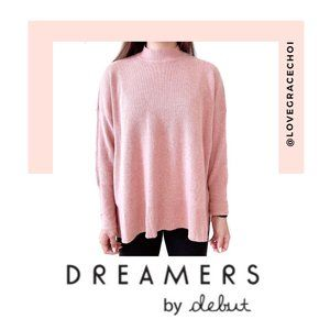 Dreamers | Heather Dust Pink Knit Sweater Top